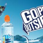 Alpská voda sesilou přírodního kyslíku. GoPlay Outside!